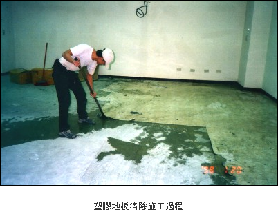 清除塑膠地板