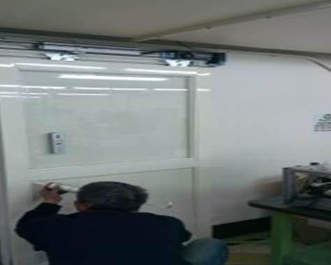 林口美商柏恩氏電子工廠安裝自動門機