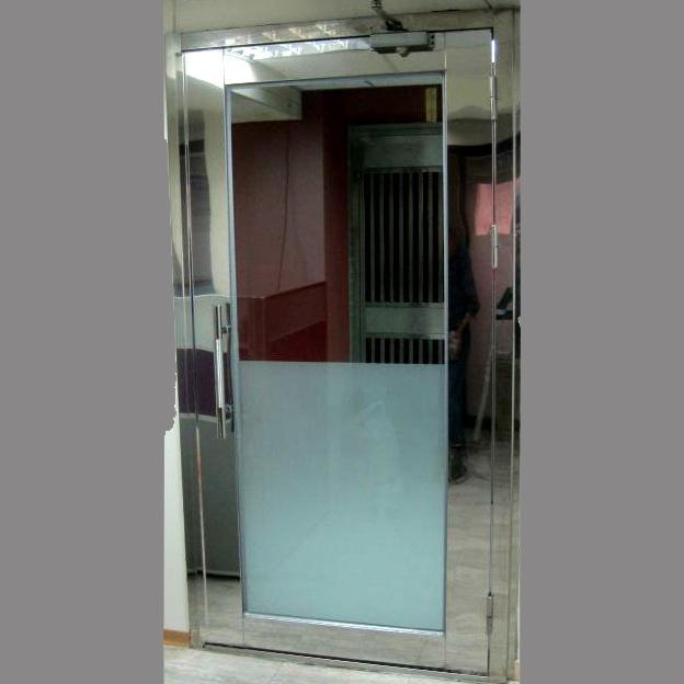不銹鋼玻璃門