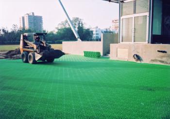 蜂巢式植草磚&排水板