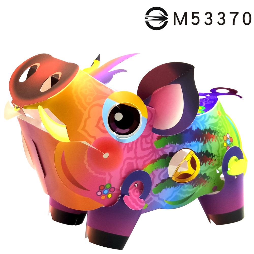 吉祥發財豬-DIY摺