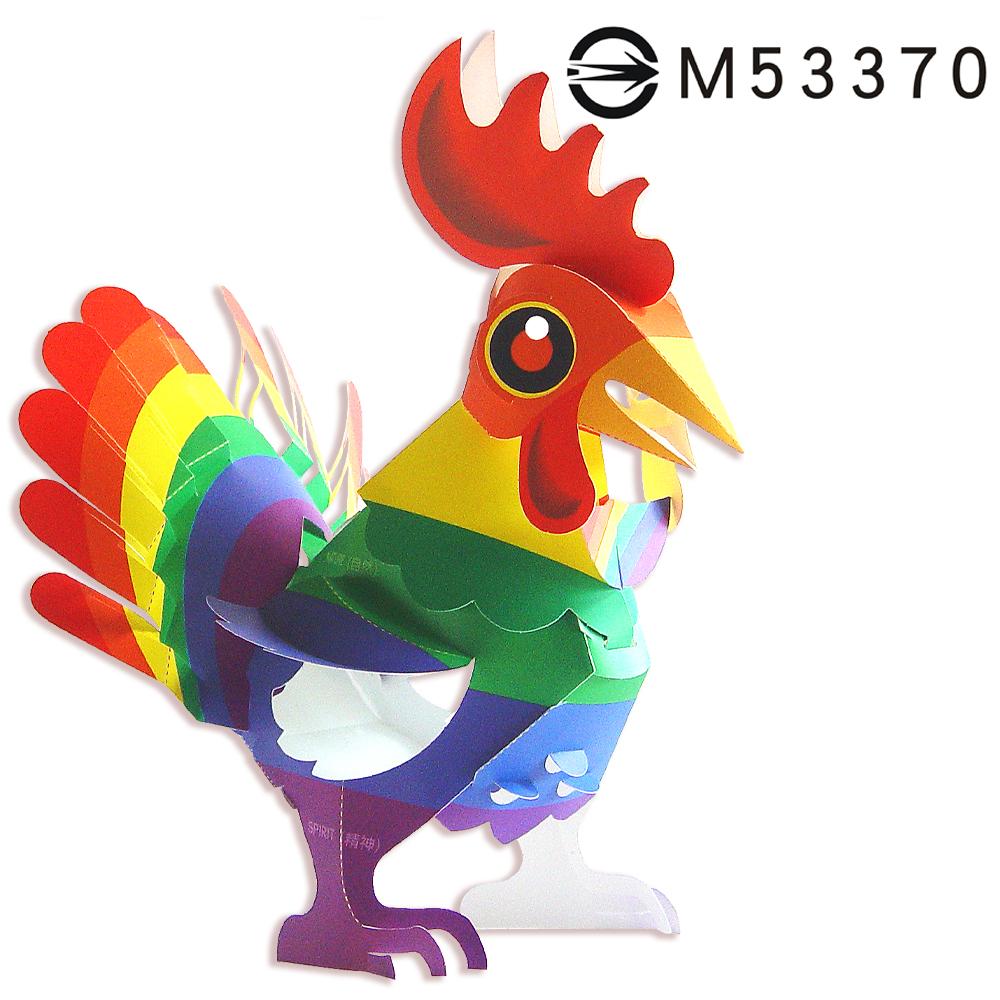 彩虹雞-DIY摺紙燈