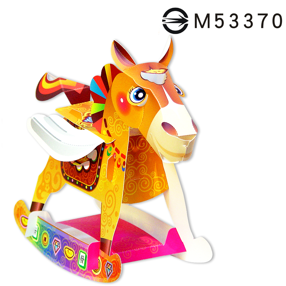 可愛馬-DIY摺紙燈