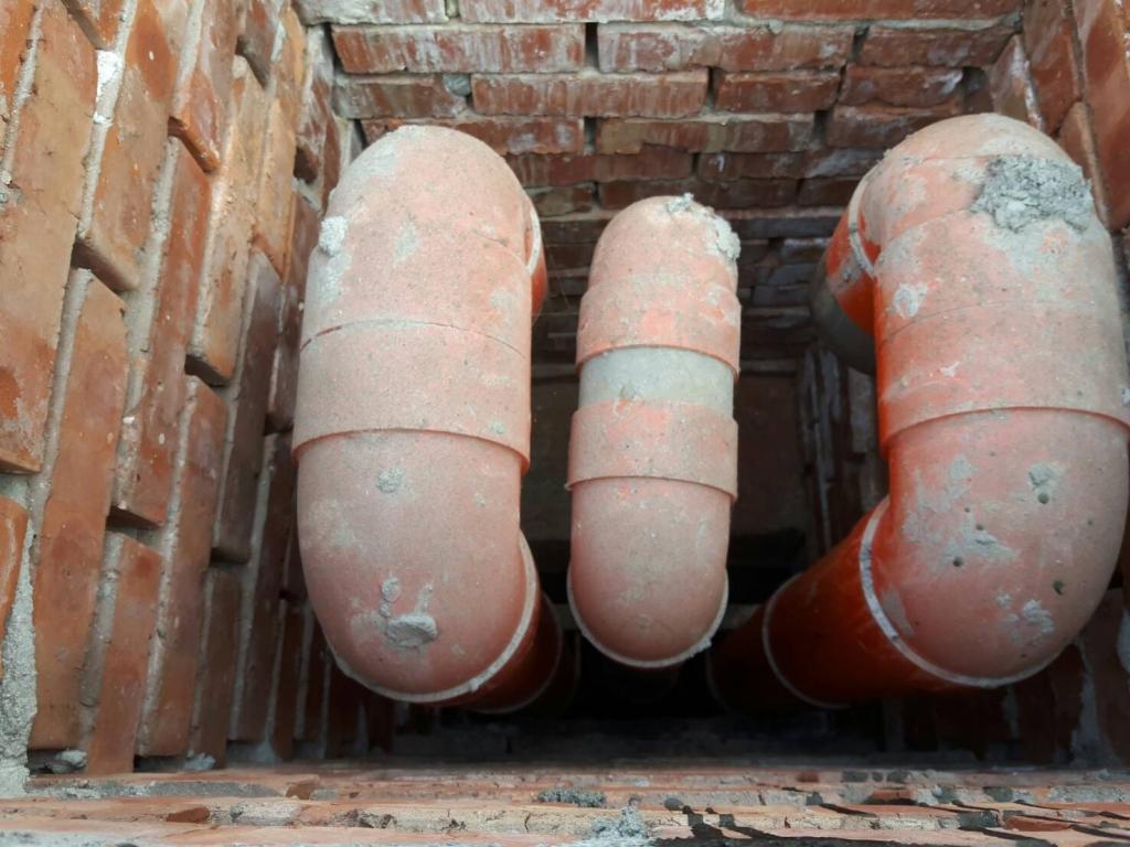 台北桂冠凡爾賽社區施工中管道間照片