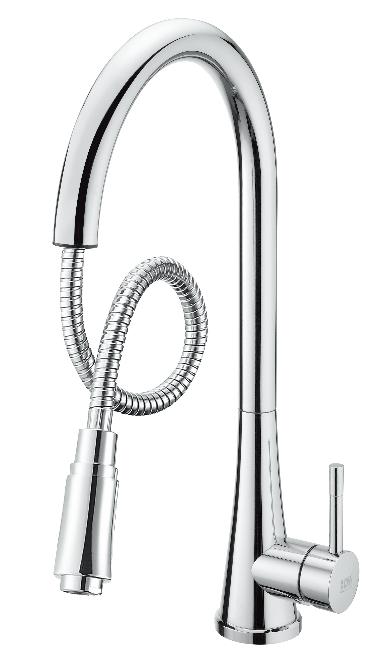 無鉛廚房立式伸縮龍頭(25L)  D-00211