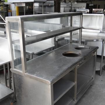 兩孔爐餐檯攤車