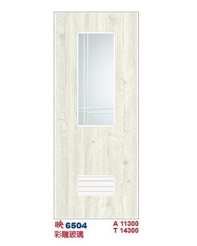 彩雕玻璃浴廁門 6504