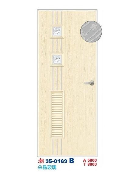 彩晶玻璃浴廁門 潮35 -169B