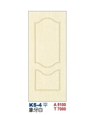 象牙白房間門  老K塑潮門K5-4 平