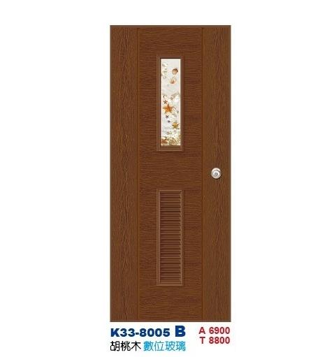 數位玻璃浴廁門-防潮門K33-8005 B