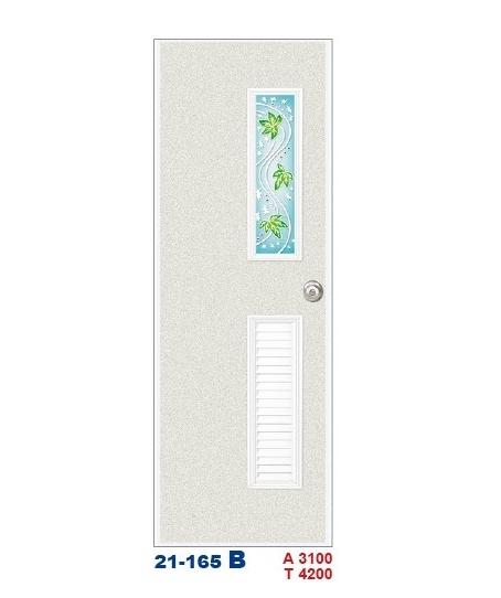 浴廁門 彩繪飾條塑鋼門21-165 B