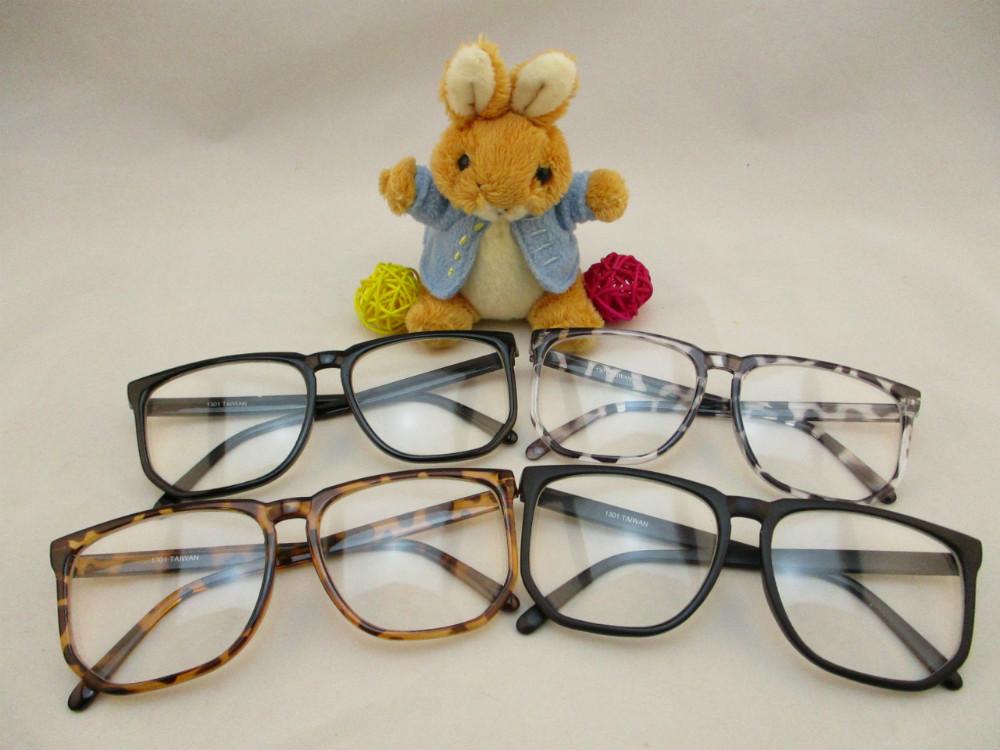 膠框平光眼鏡-130
