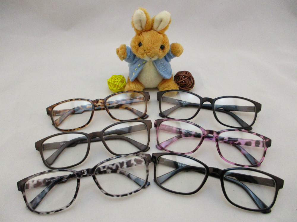 膠框平光眼鏡-328
