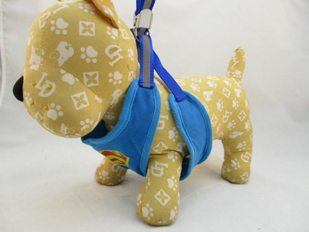 寵物胸拉繩-藍色超人