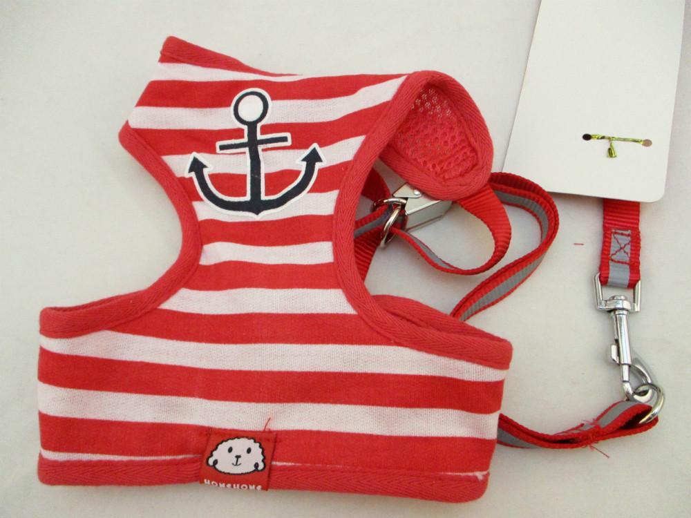 寵物胸拉繩-紅色水手