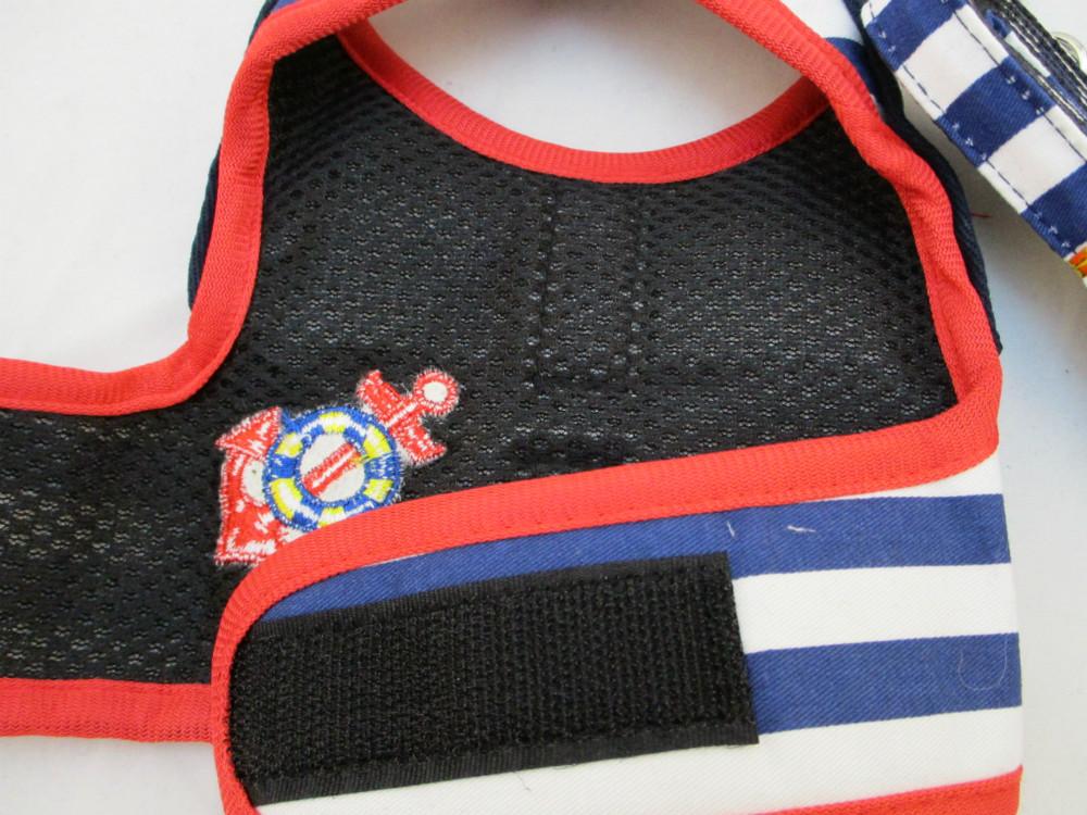 寵物胸拉繩-穿衣藍水手