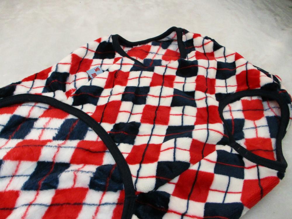 大型犬寵物衣-紅菱格紋