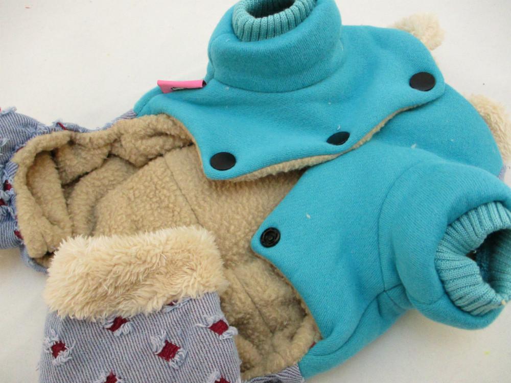 貓狗寵物服飾-蘋果綠四腳熊