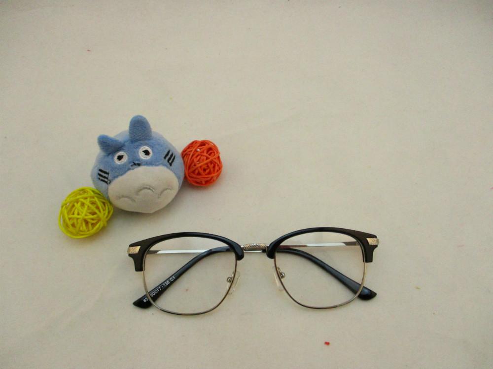 金屬韓版平光眼鏡-835