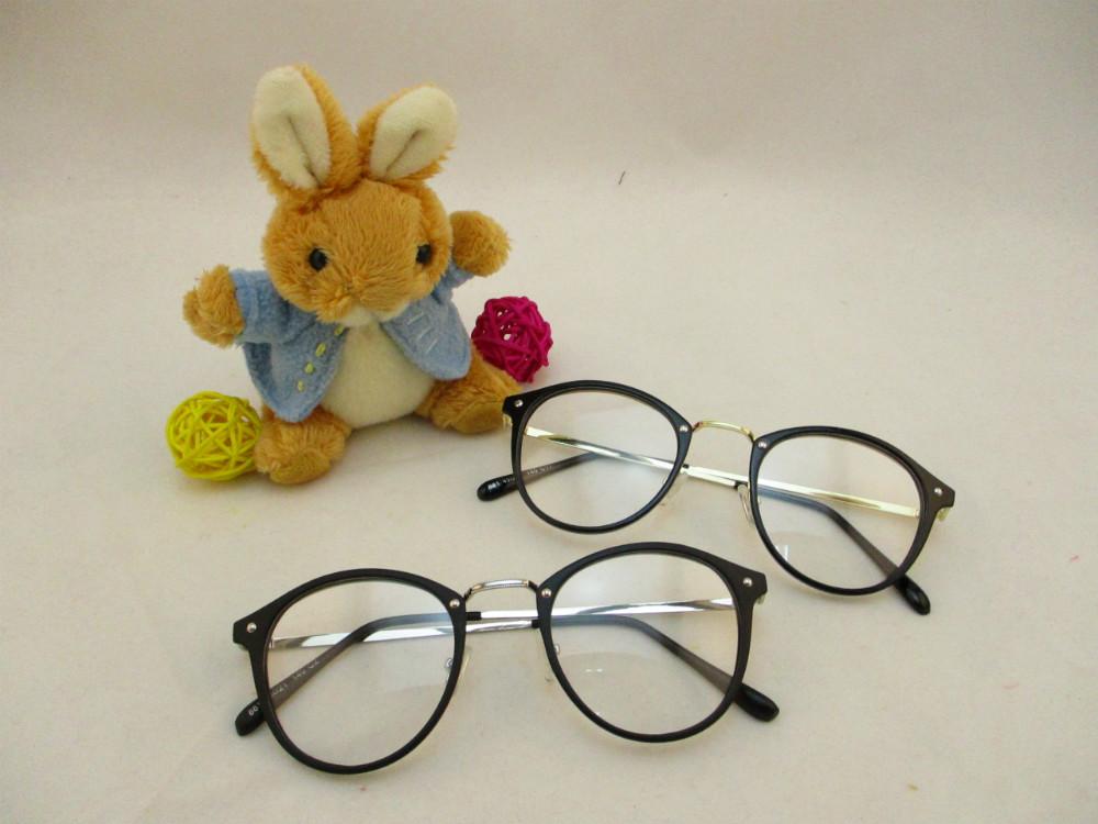 金屬韓版平光眼鏡-881