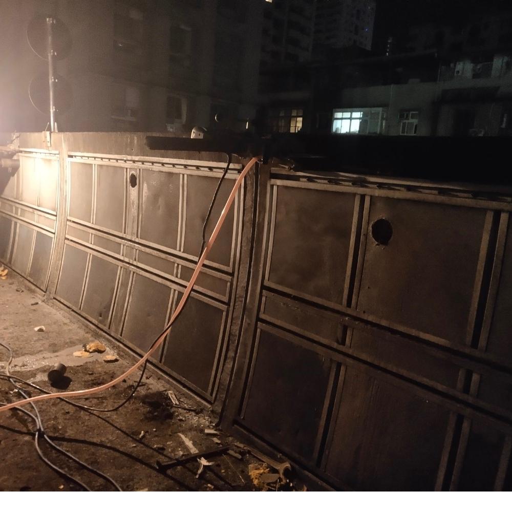 汐科火車站隔音牆切割拆除