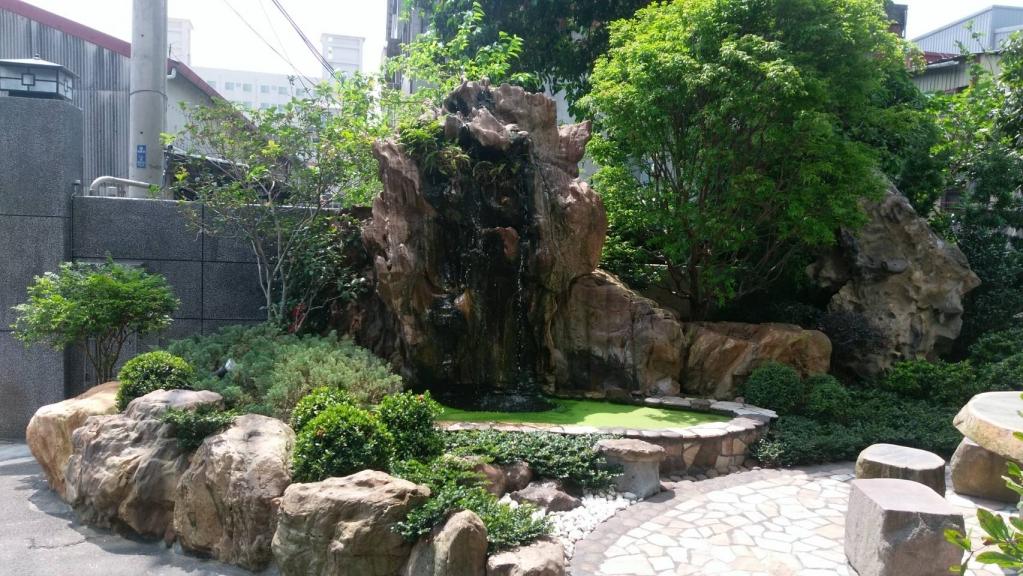 流水景觀 景石