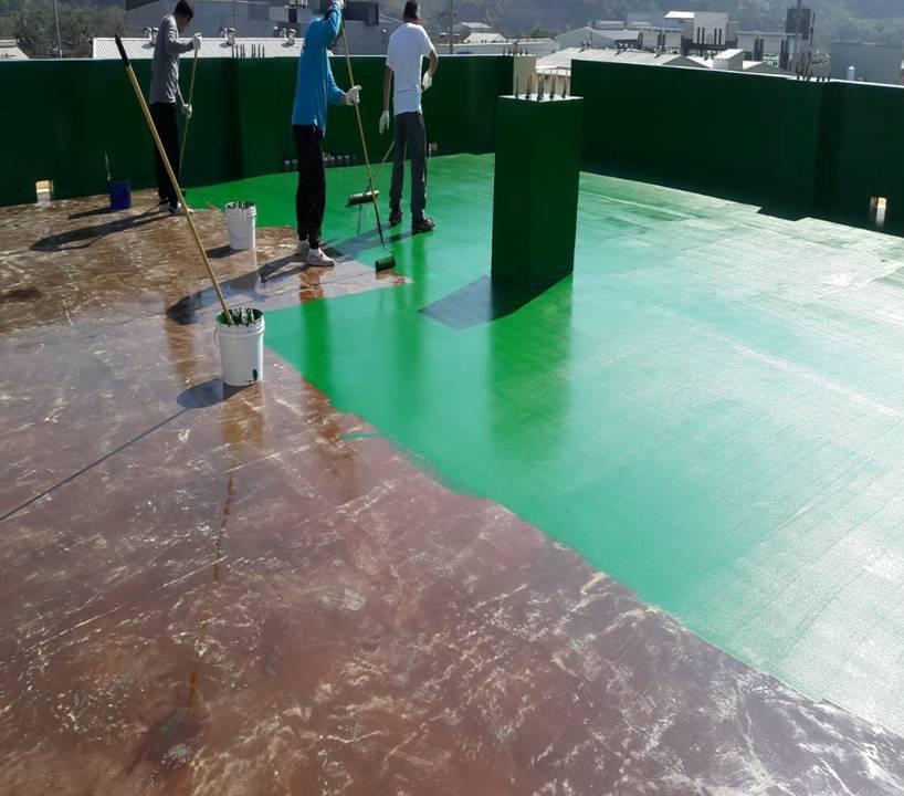 屋頂防水-FRP面塗施作