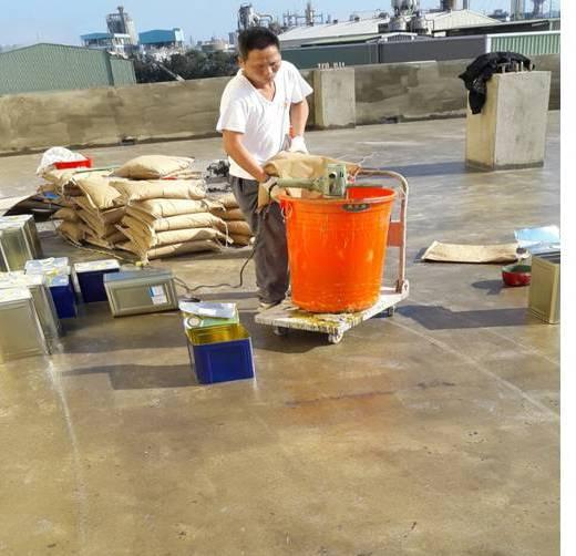 屋頂防水-地坪樹脂砂漿施作
