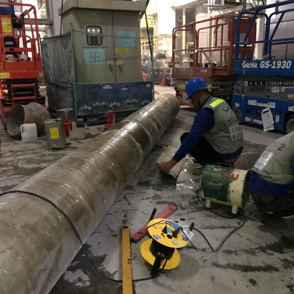 南科台積電-FRP管路配管施作