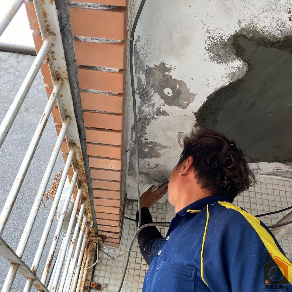 台南泥作工程-天花板鋼筋混凝土脫落
