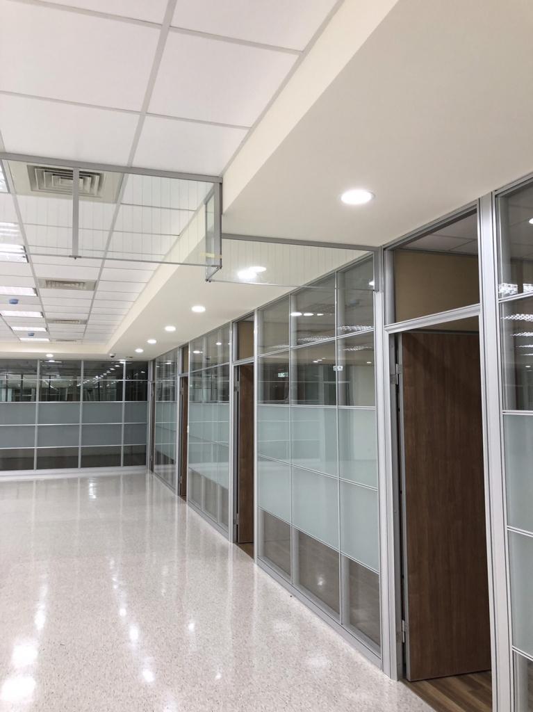 固定式全鋁框防煙垂壁-新竹市-新竹科學園區晉弘科技