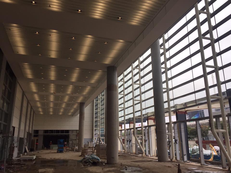 固定式全鋁框防煙垂壁-南港區新建案-南港展覽館2館