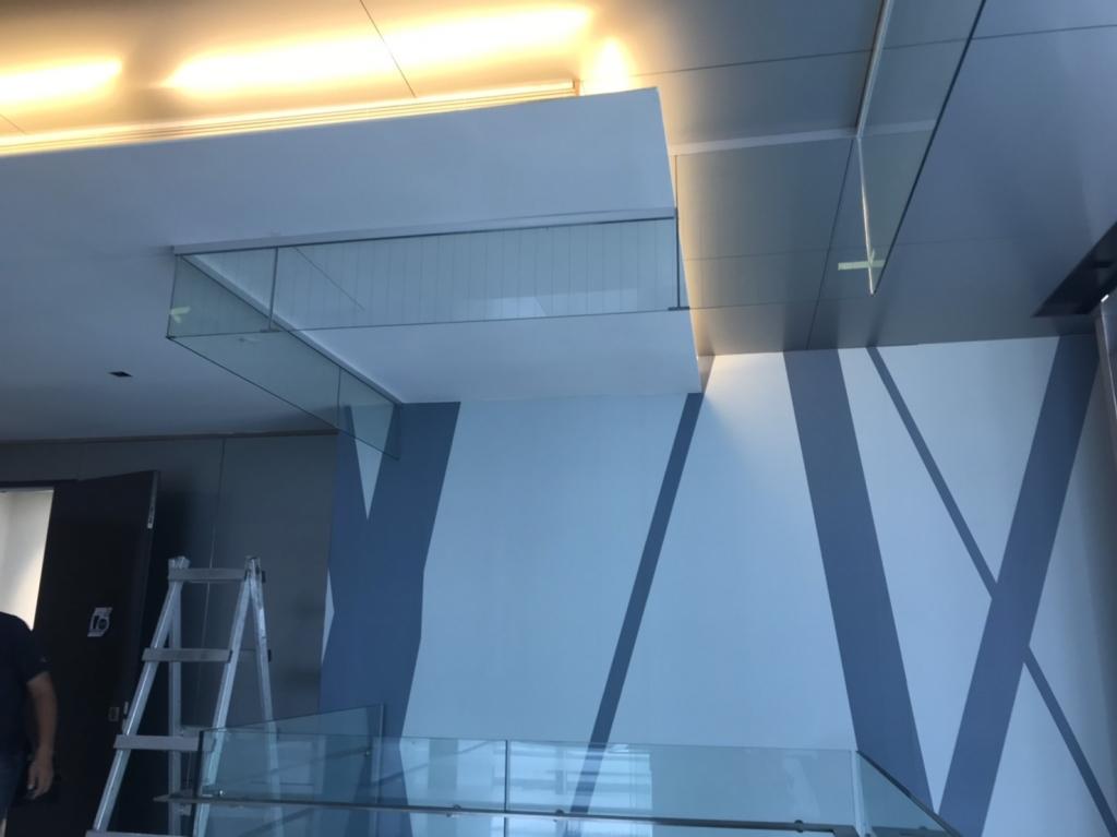 固定式無邊框防煙垂壁-台北市內湖區-全聯總部商辦大樓