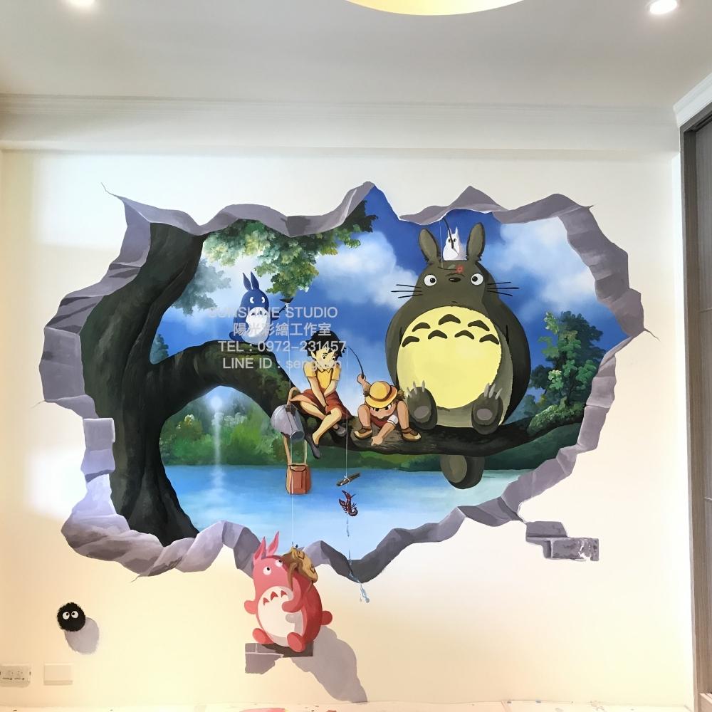 大里親子房3D彩繪