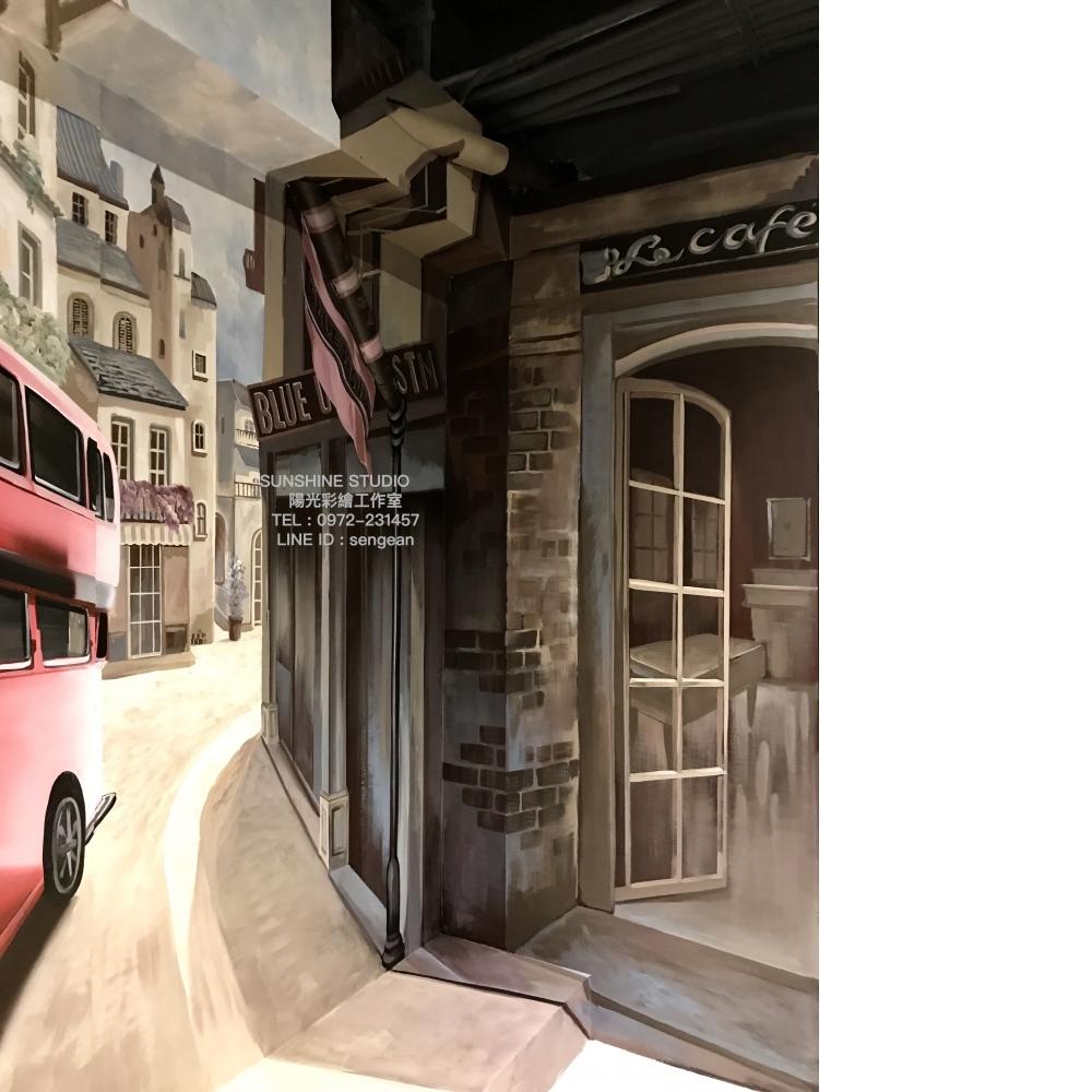 南投民宿3D彩繪