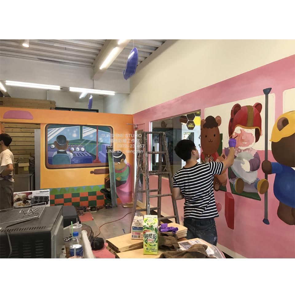 手作餅乾店面3D彩繪