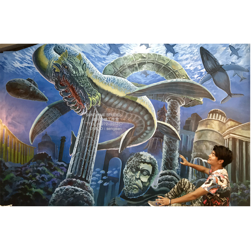 3D展海底世界彩繪