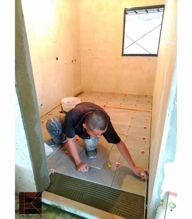 湖口浴室貼地磚工程