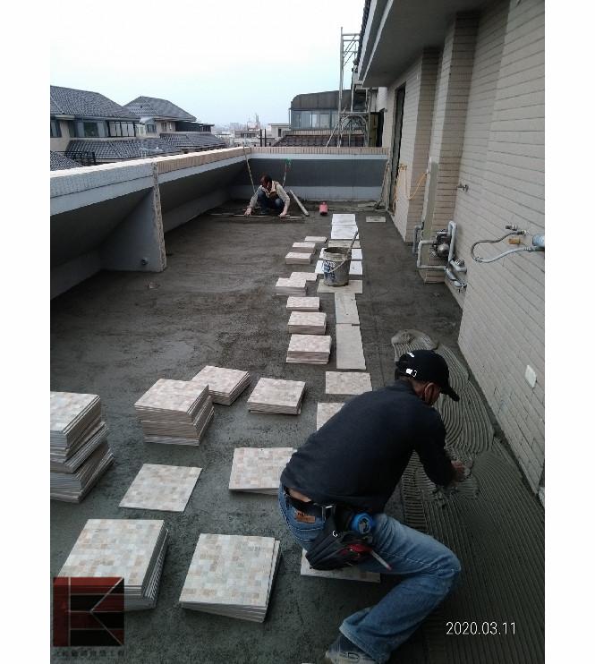 新竹露台貼地磚