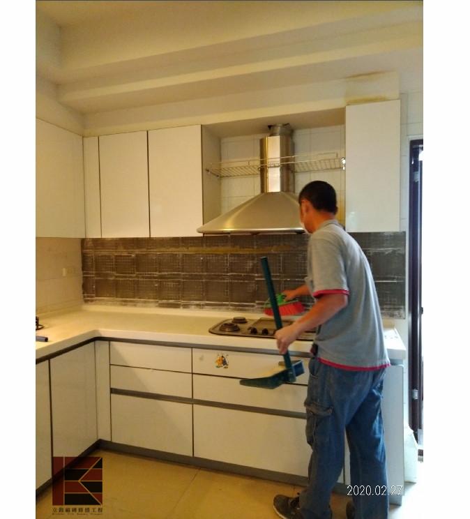 竹北壁磚隆起修補(廚房)