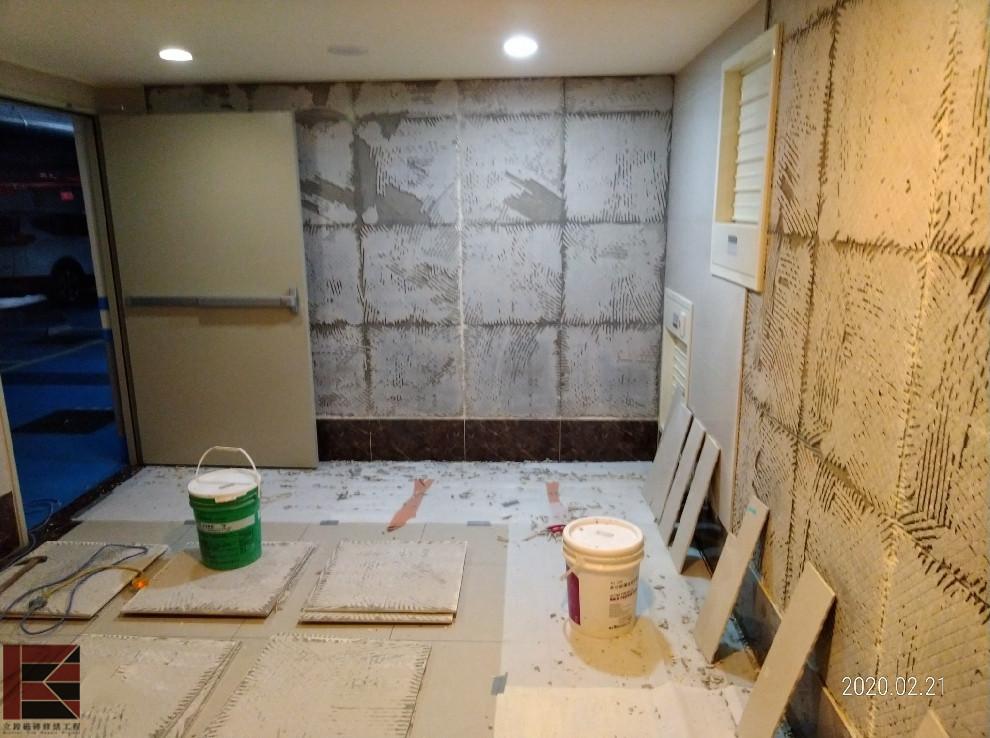 竹北牆壁磁磚隆起