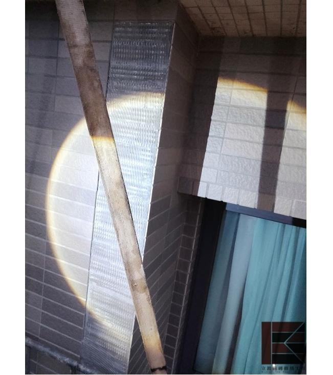 新竹大樓外牆磁磚脫落修補