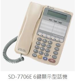 SD 6鍵顯示型話機