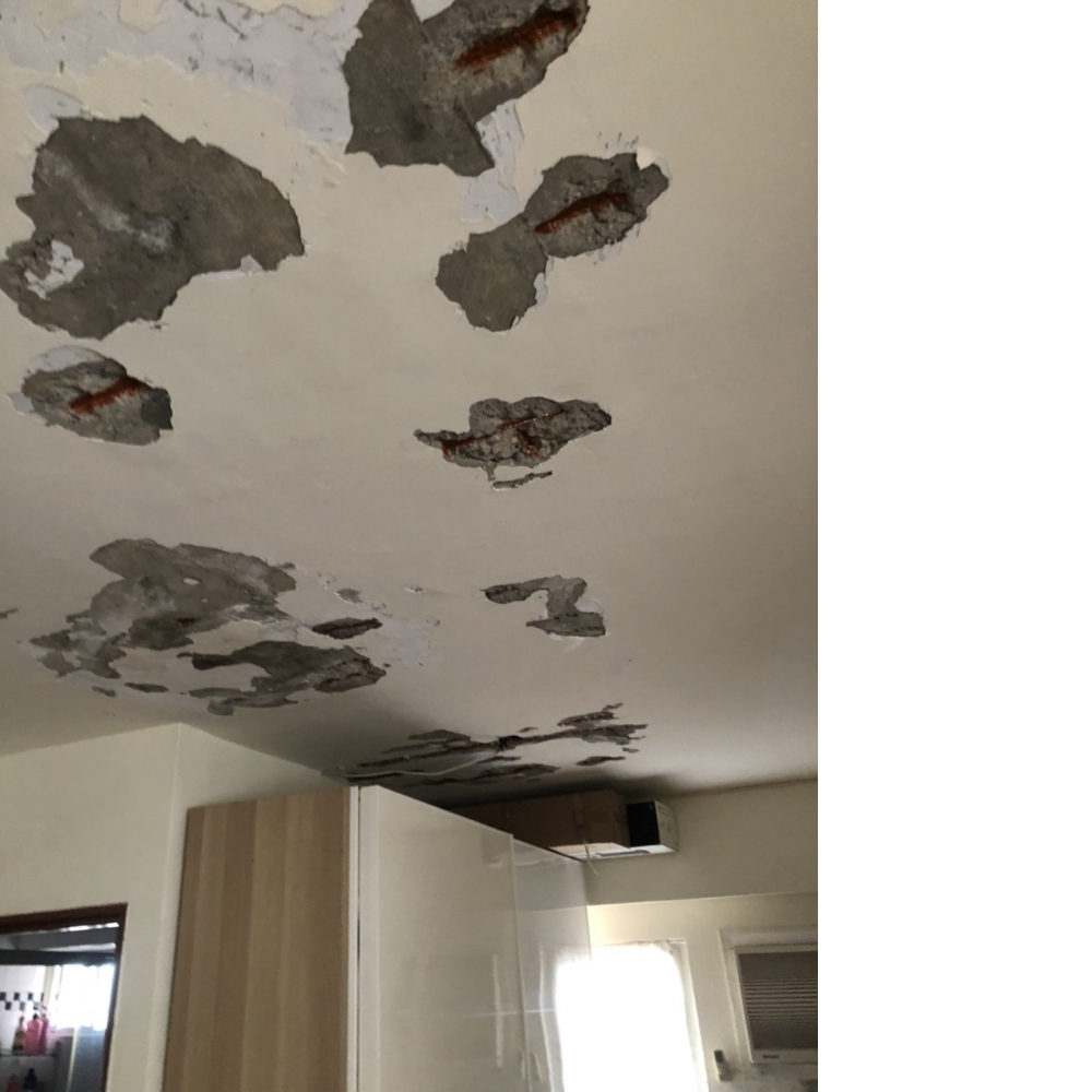 室內鋼筋外露補強 壁癌處理