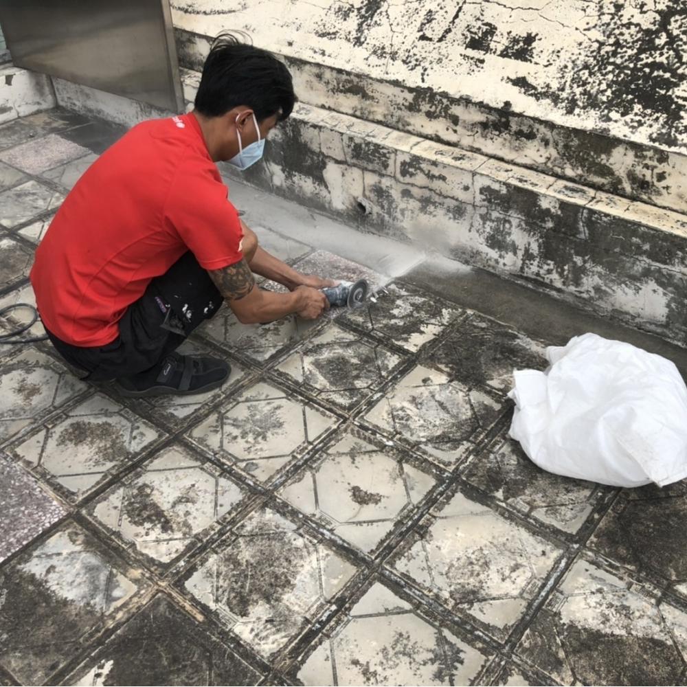 桃園翰誼防水-頂樓局部切割斷水工程