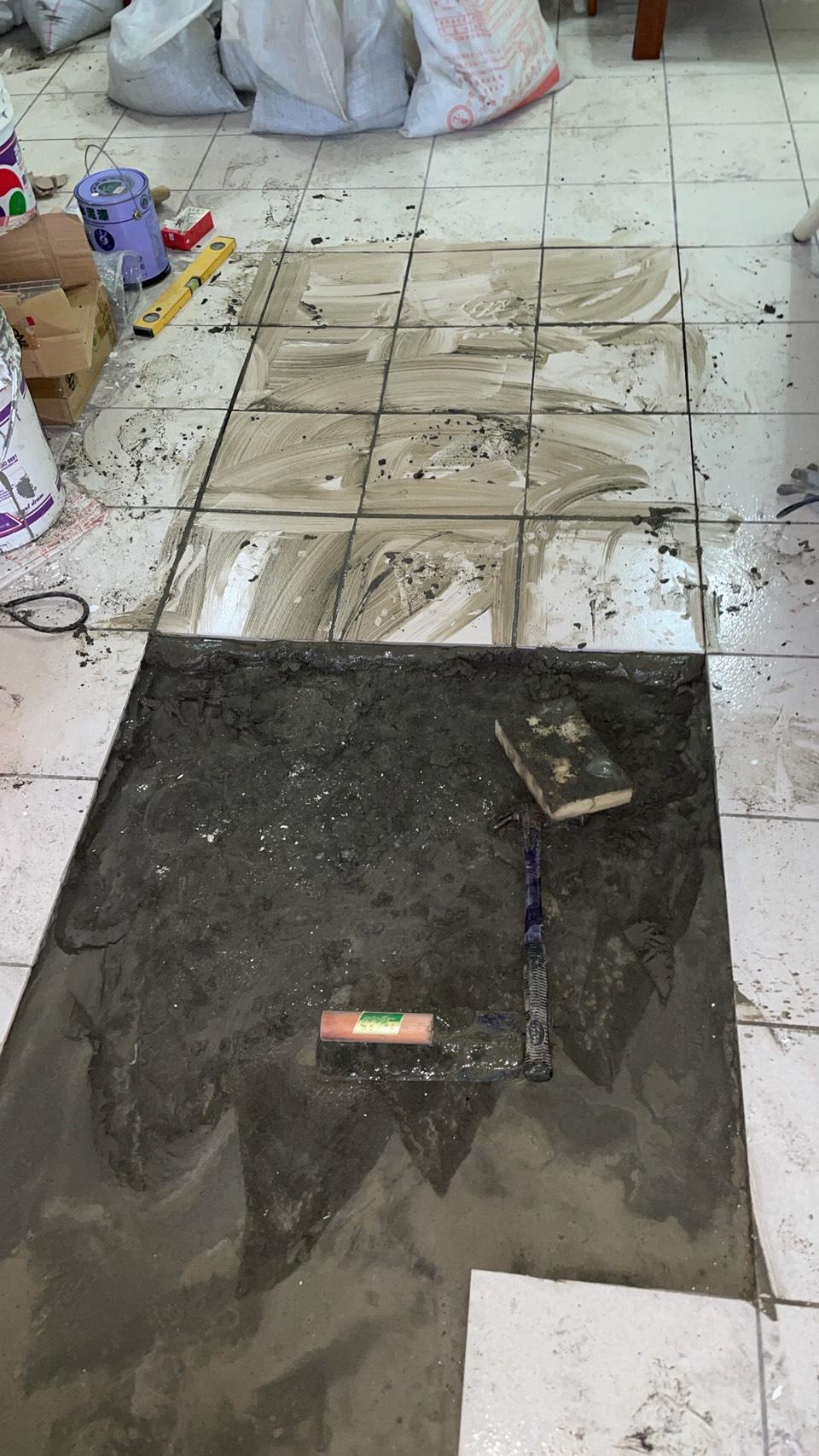 平鎮區磁磚隆起修補 室內壁癌油漆工程