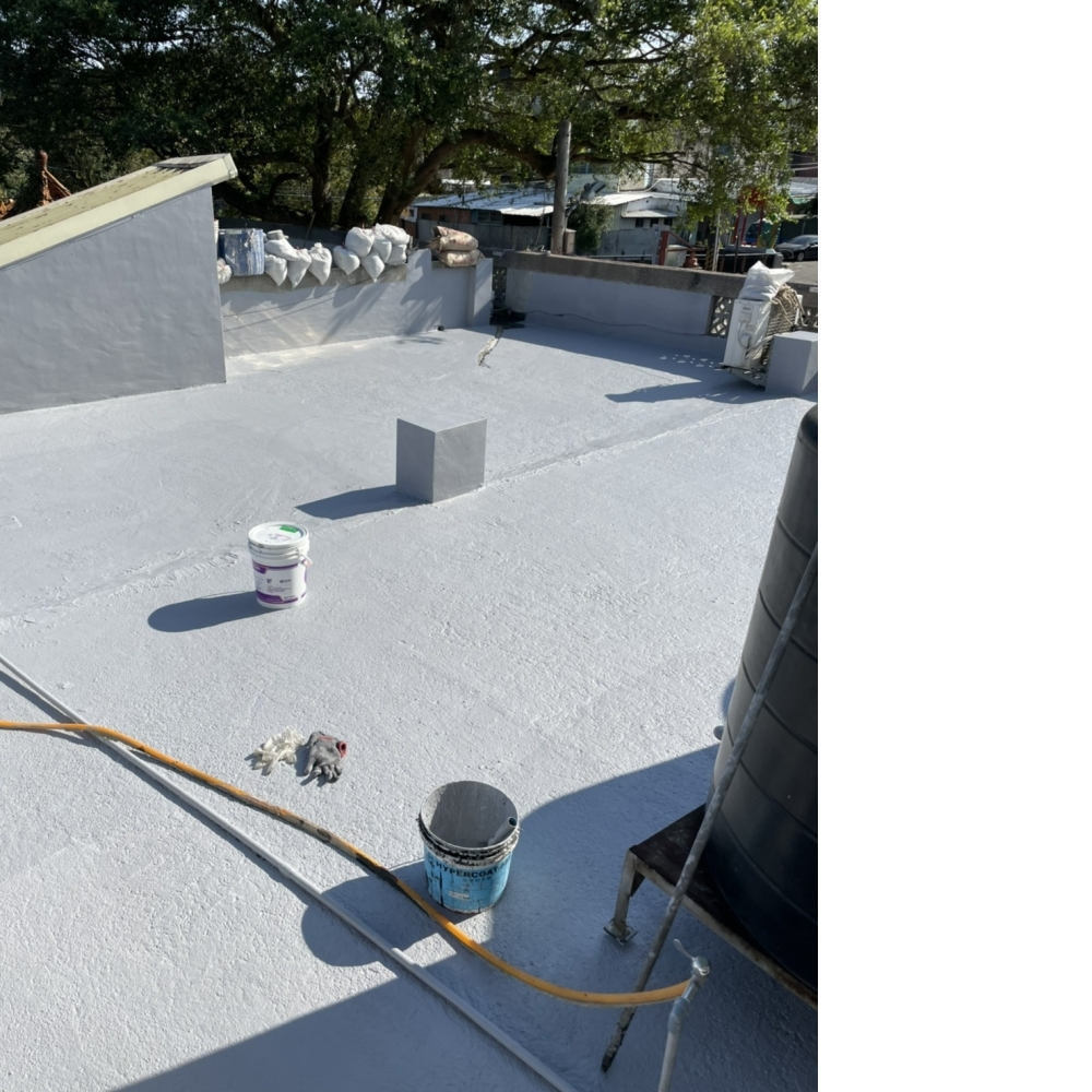 大溪防水-辦公處頂樓地坪防水隔熱工程