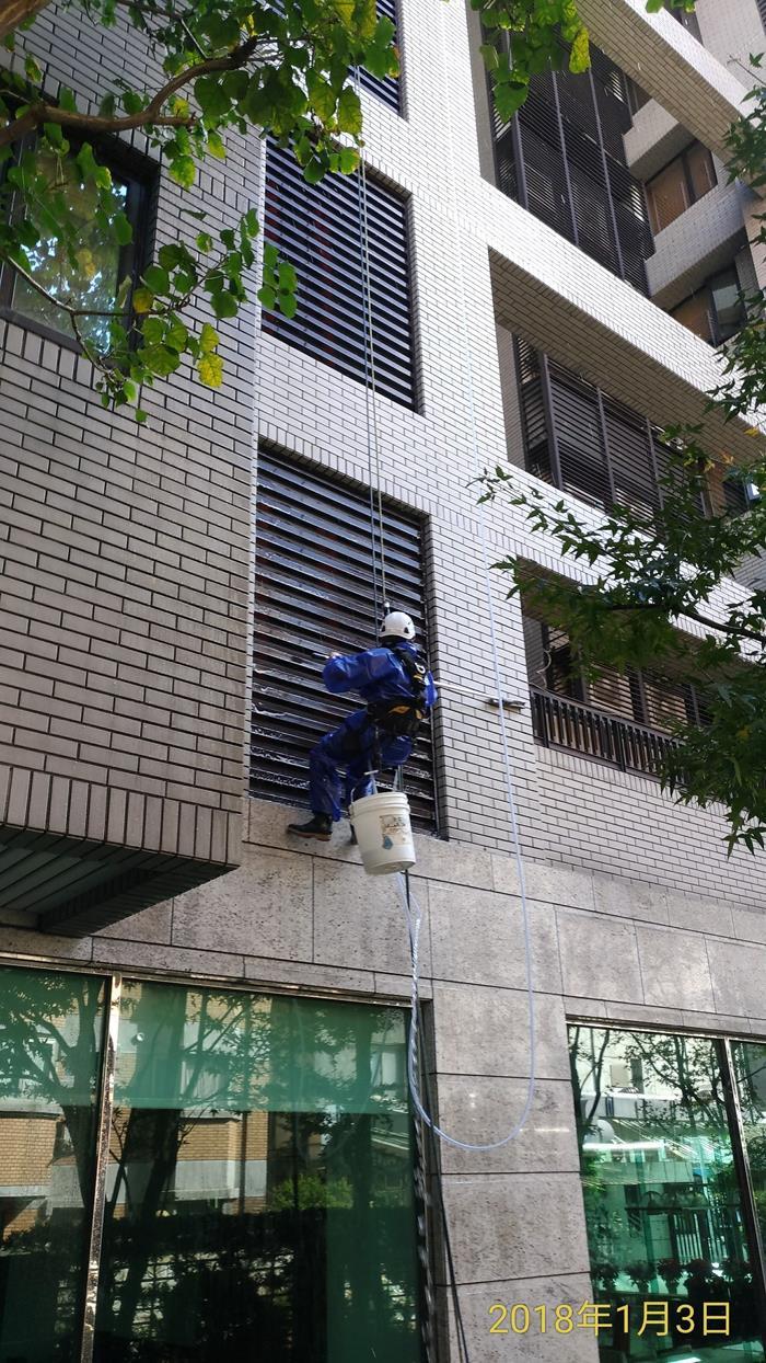 桃園大樓雙樓垂降作業