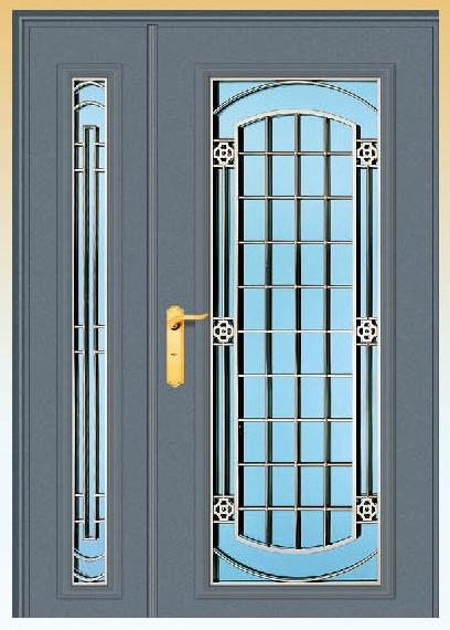 3Y05 古錢金雕-子母式安全門