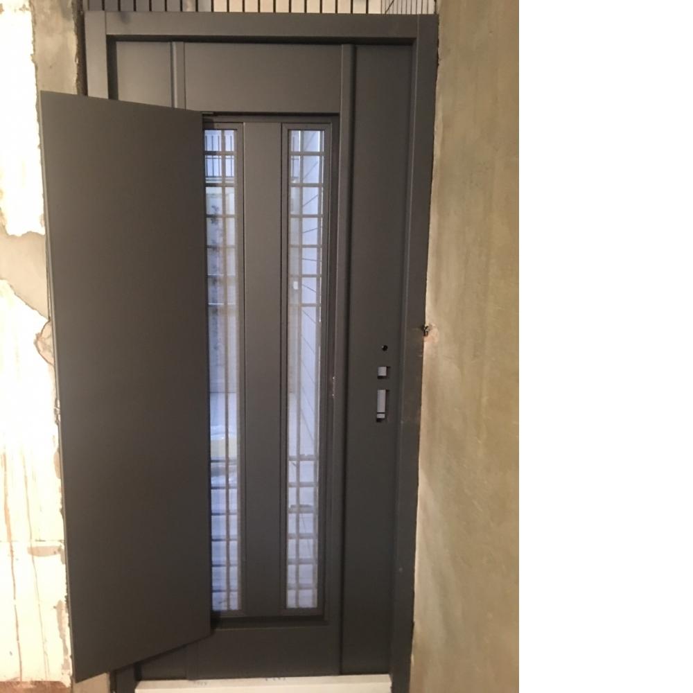 安裝鑄鋁門中門含紗窗